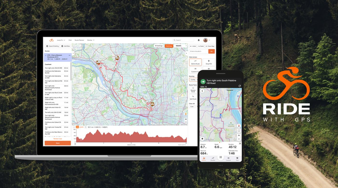 Ride with GPS' New Heatmap Route Planning Assistant