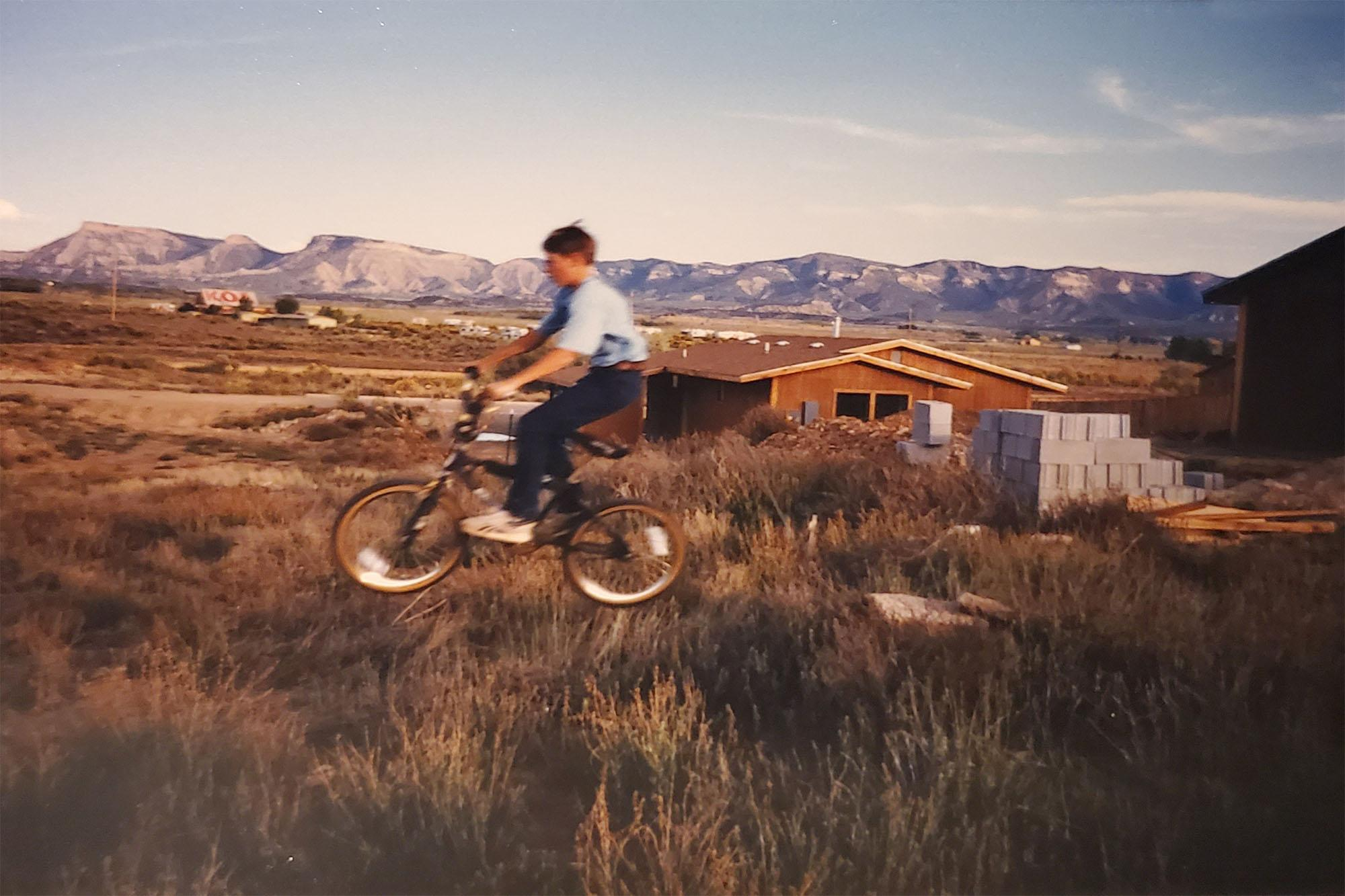 1987 - Stefan home BMX jump