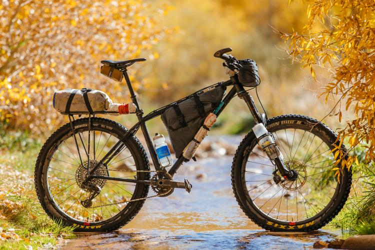 Kyle From Outer Shell's 160mm Travel Falconer Hardtail MTB Ultra Light Loaded for the CDT