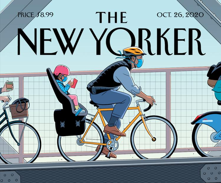 This New Yorker Cover by R. Kikuo Johnson Really Normalizes Bikes!