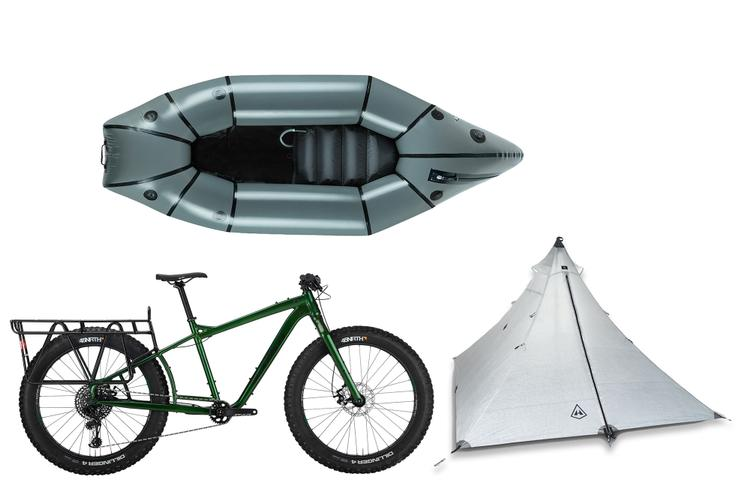 Win a Salsa Blackborow Fat Bike, a Alpacka Caribou Packraft, and a  UltaMid 2 Pyramid Tent System from Hyperlite