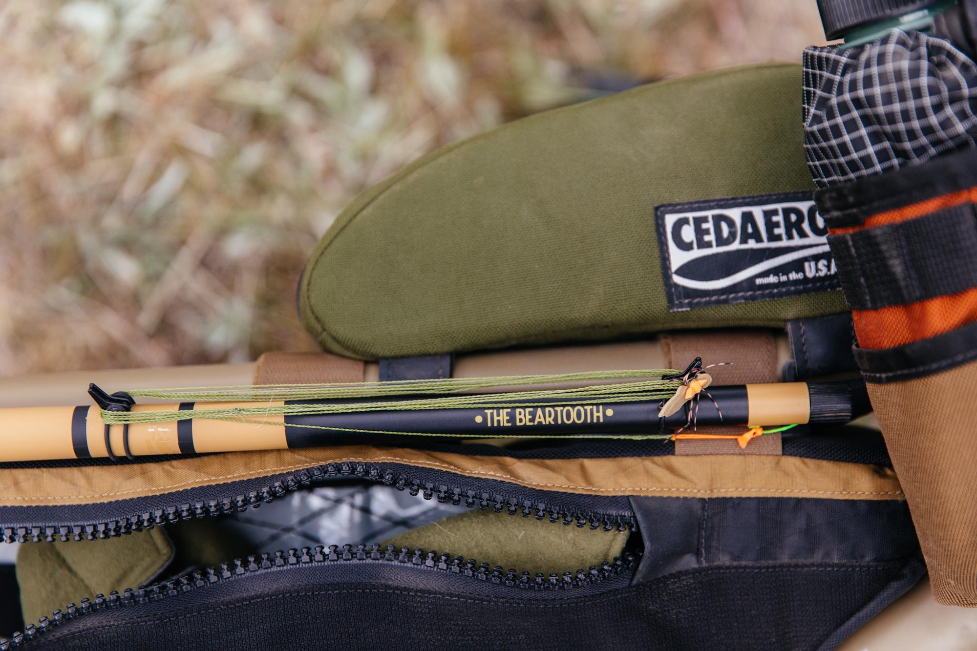 Tenkara Rod Co Beartooth is my rod of choice for bike fishing