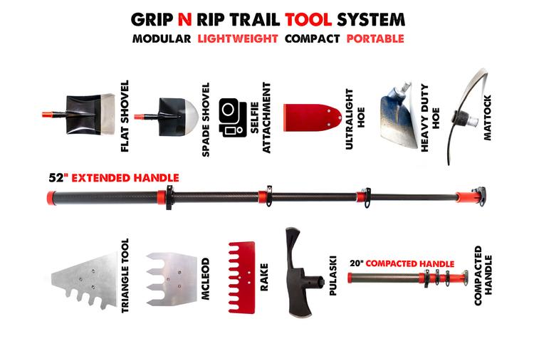 A Trail Working Tool Kit on Kickstarter: GRIP N RIP Dirt Tool Set
