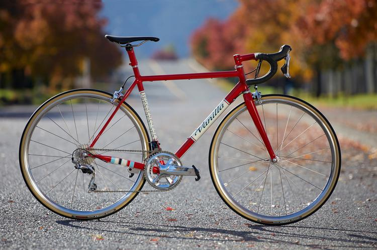 Introducing the Vanilla Classic Road Bike with Custom CycloRetro Engraved Shimano Dura Ace