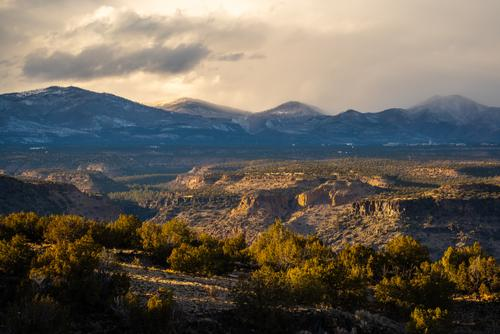 20. Storms clearing over the Jemez