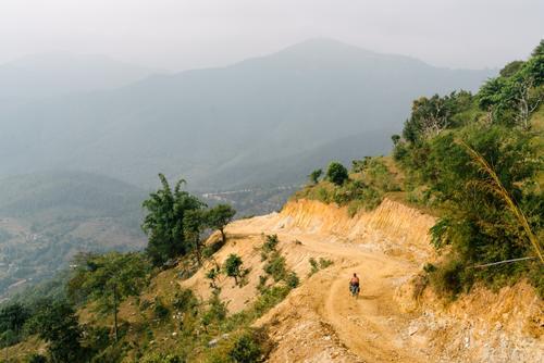 Descending empty roads
