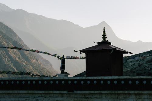 Buddhist monastery views