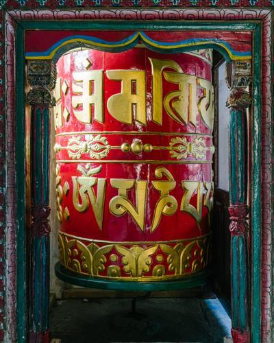 The big prayer wheel