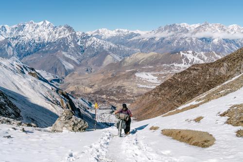 Pushing up icy slopes