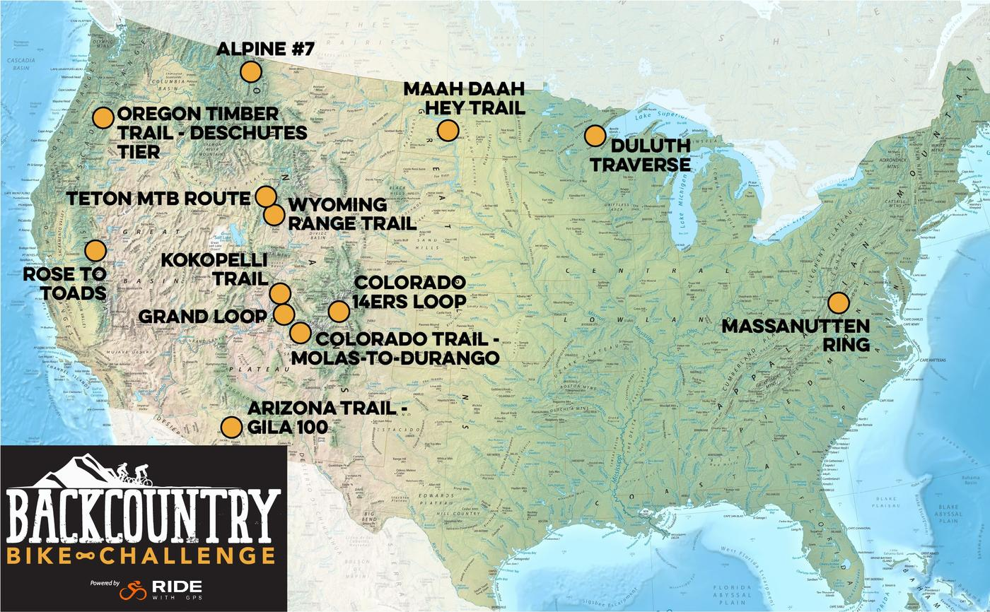 Introducing the Backcountry Bike Challenge by Ride With GPS