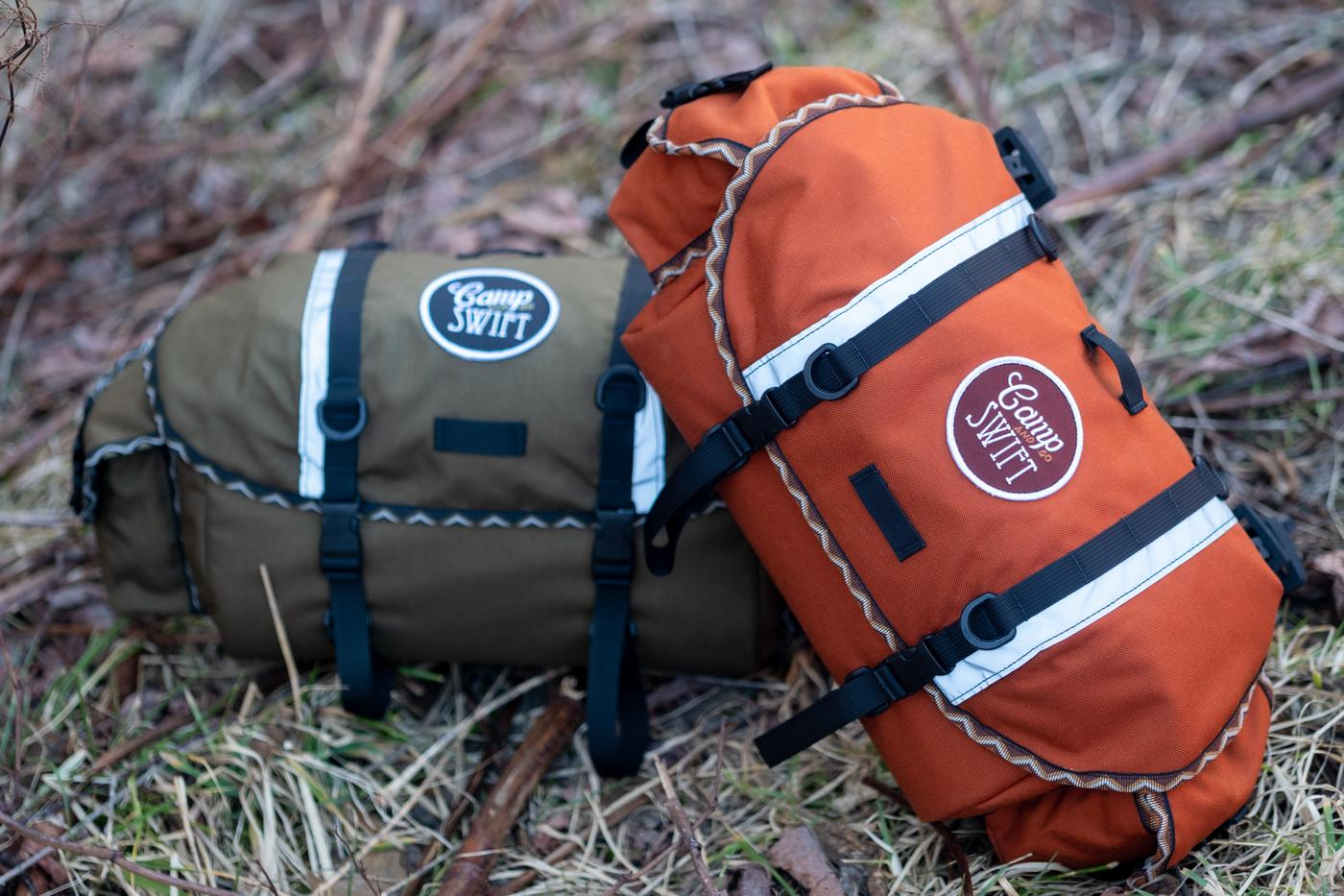 Swift Industries and Camp and Go Slow Diamondback Rattlesnake Bags