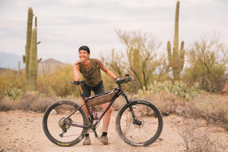 Ally's Hoefer Cycles Custom 29er Hardtail Bikepacking Rig