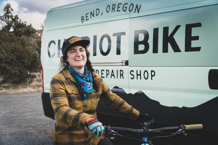 Inspired by the Ride of Norma Jean Belloff in 1948: Chariot Bike Mobile Repair Shop