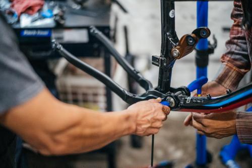Fixing a broken swingarm