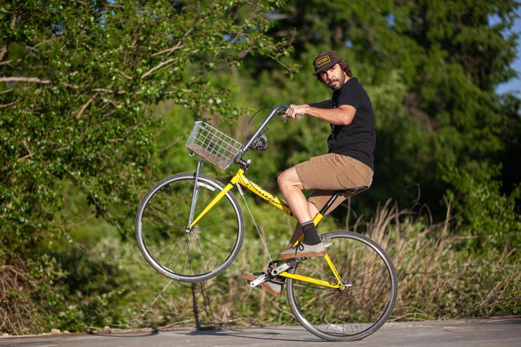 Man On Wire: A Slingshot Bicycle in the Wild!
