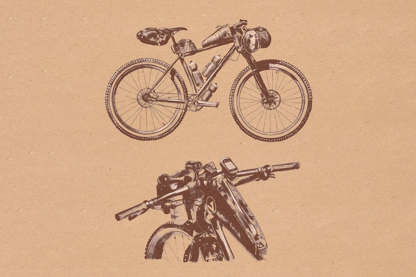 Dean Liebau's Illustration of Bailey's Moné Hardtail SSMTB 29er and #DrawMyKona Contest