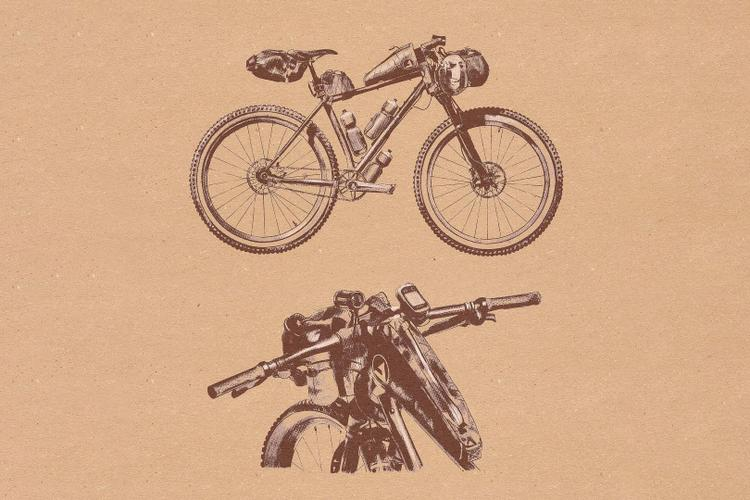 Dean Liebau's Illustration of Bailey's Moné Hardtail SSMTB 29er and #DrawMyKona Contest