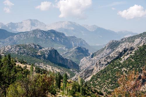 Rocky outcrop valley