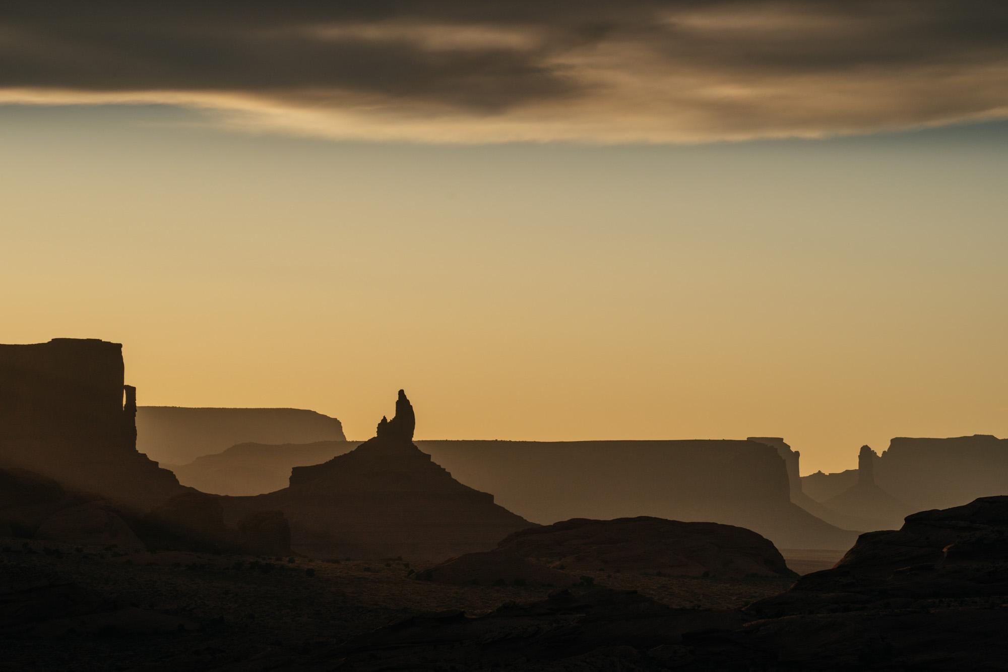 Sunset over Monument Valley