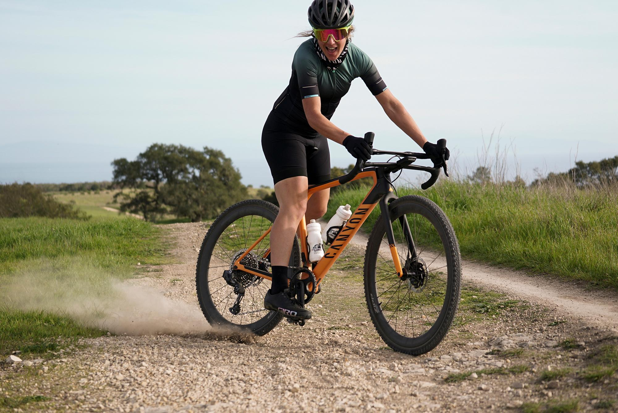 Kathy Pruitt is bringing downhill skills and a big ol' smile to gravel.
