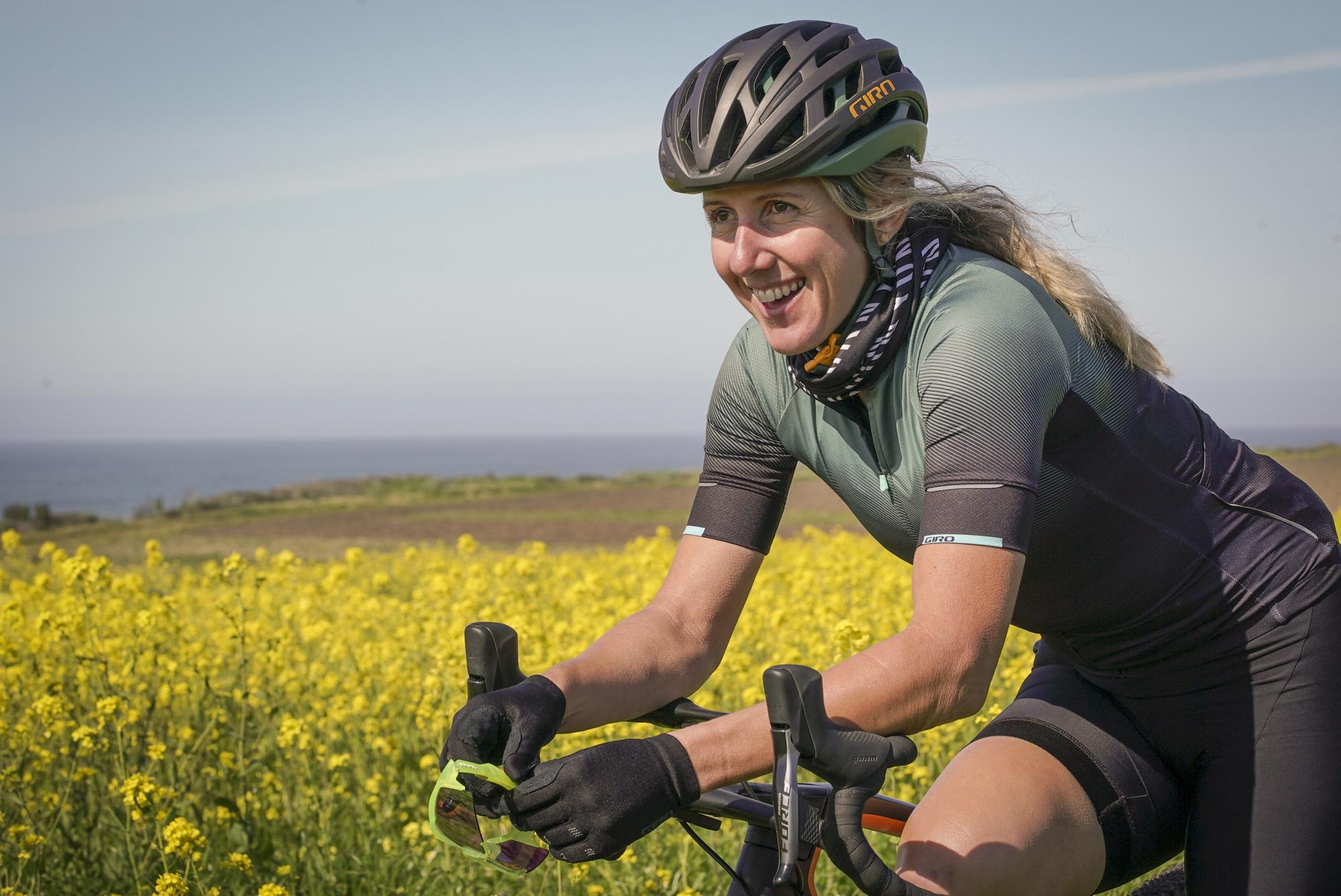 Kathy made the switch from 2-mile downhill races to 200-mile gravel races.
