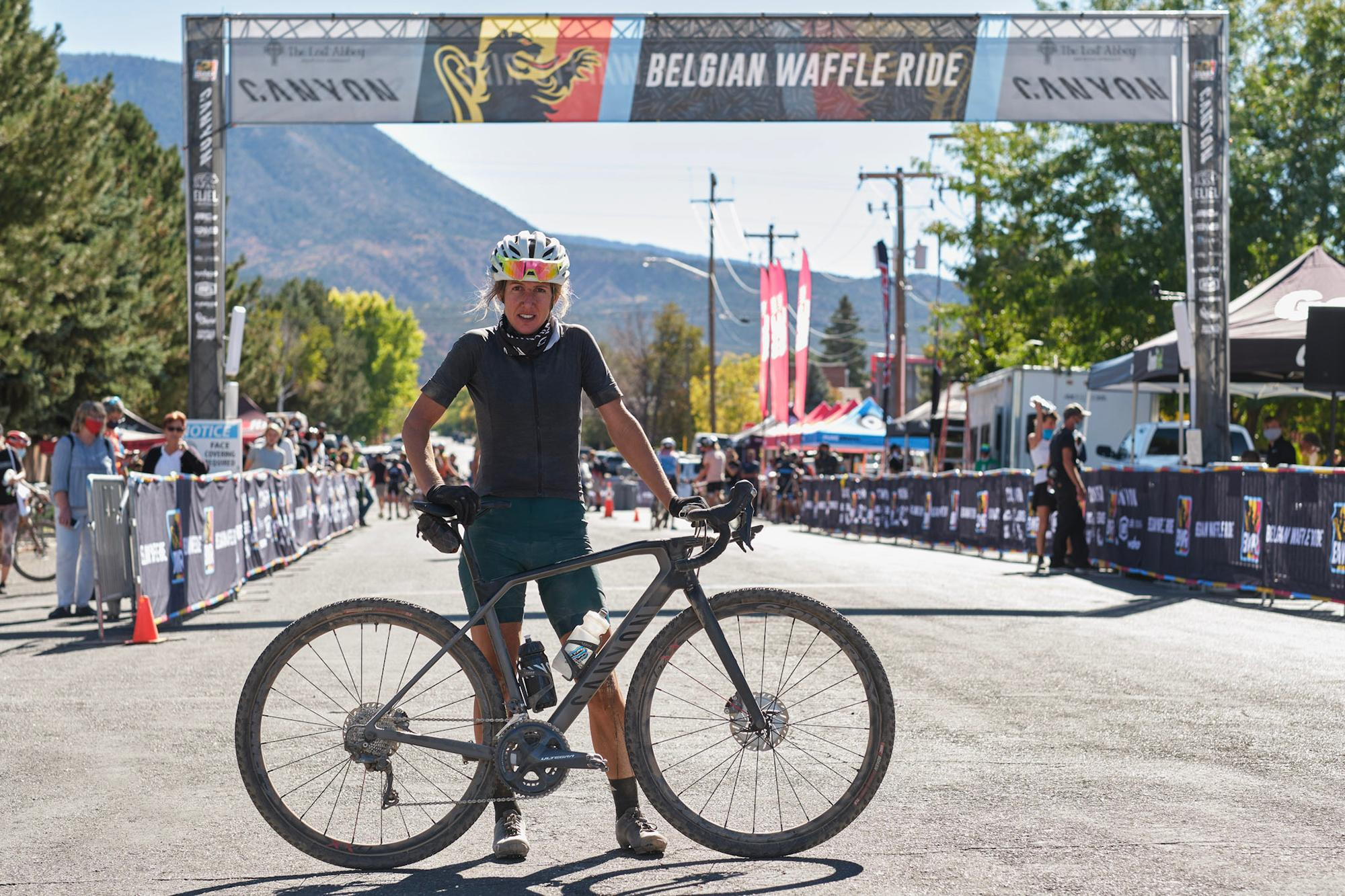 Finish line photo at the 2020 BWR in Cedar City.