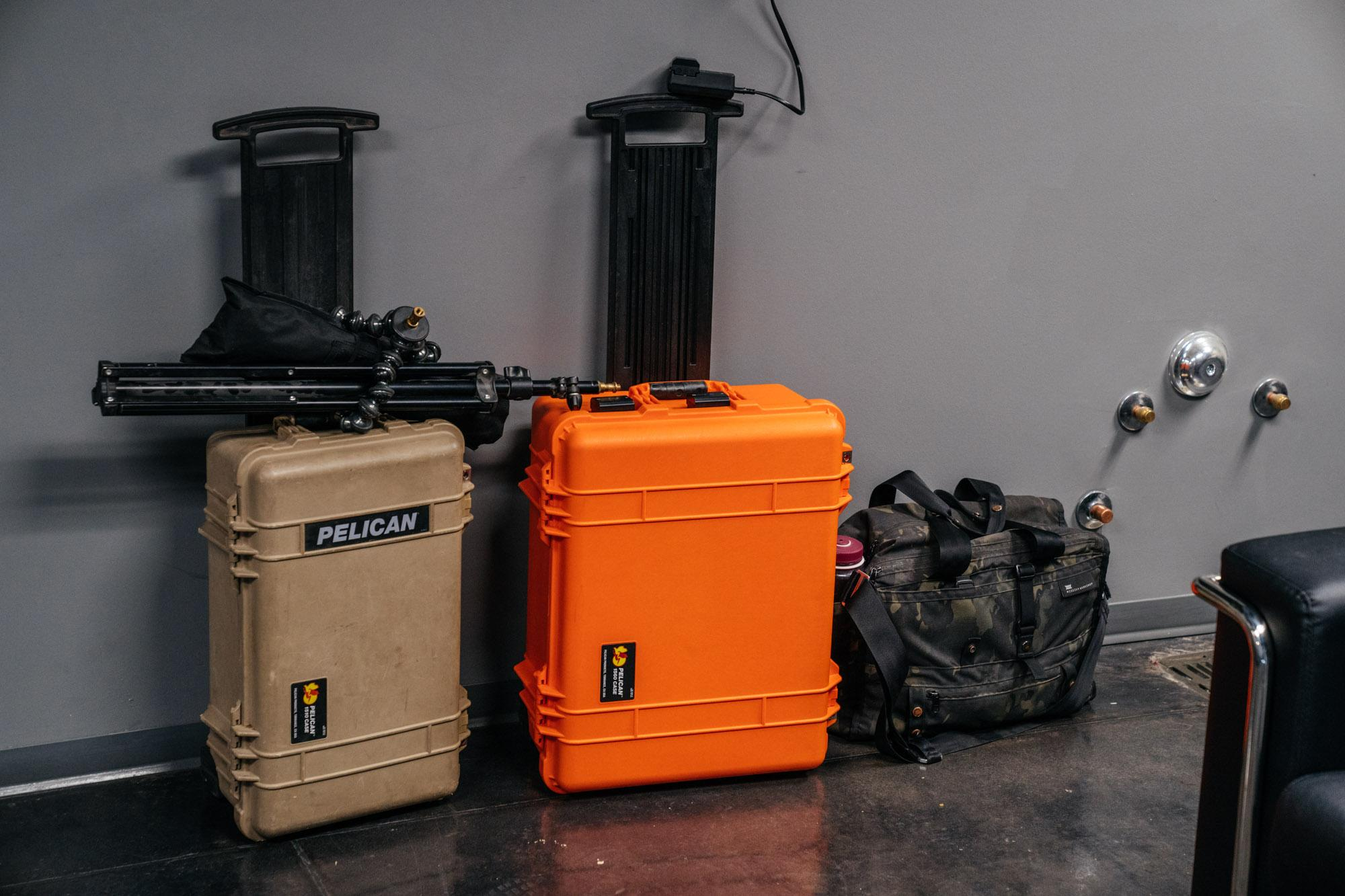 My lighting setup all packed up...