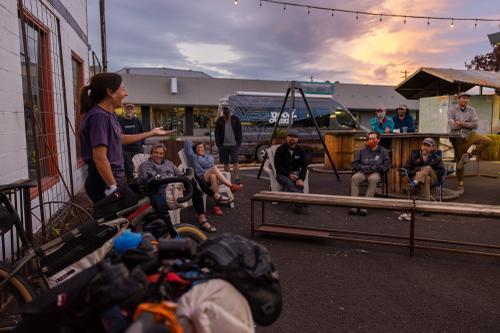 Bikepacking event at the Good Bike Co. in Prineville. (Rugile Kaladyte)