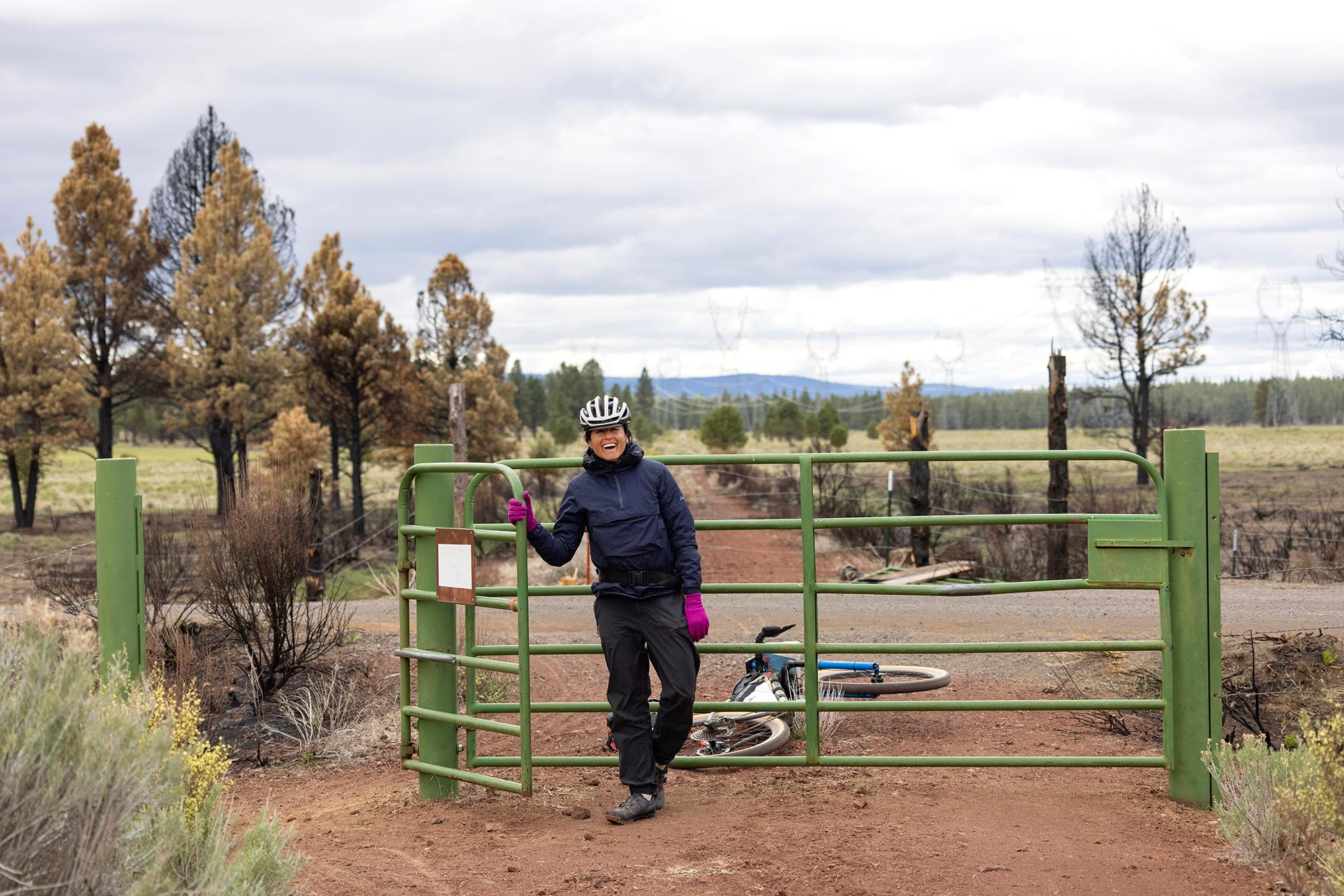 One of 42 cattle gates along the OC&E Woods Line State Trail. (Rugile Kaladyte)