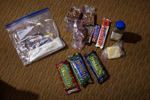 Food for Lael's FKT. (Rugile Kaladyte)