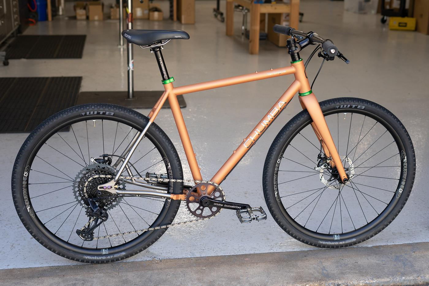 Alexandera Houchin's New Custom Chumba Sendero Titanium and Terlingua Titanium Bikes