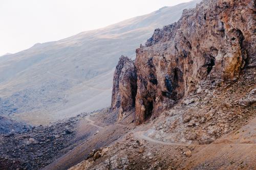 Cavernous cliff road