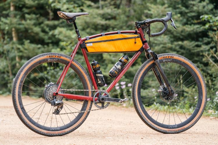 The RockShox Rudy XPLR Gravel Fork and SRAM AXS XPLR on John's Sklar Gravel Bike