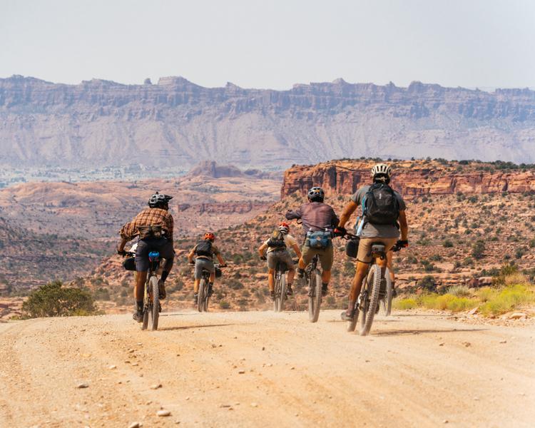 Seven Days  Mountain Bike Touring Across the Uncompahgre Plateau Along the San Juan Huts Telluride to Moab Route
