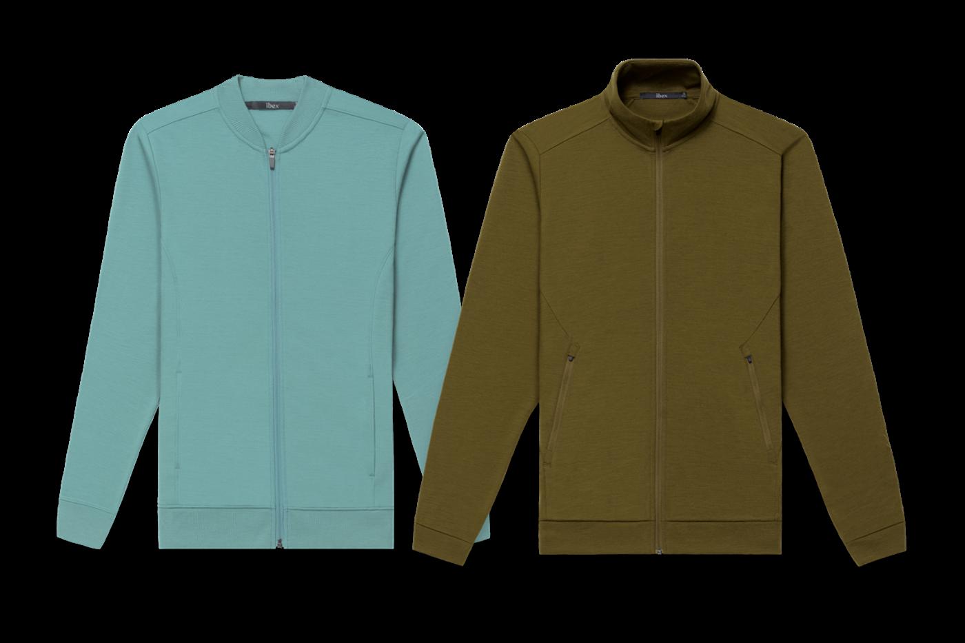 Ibex Wool's New 100% Merino Shak Lite Jackets for Men and Women
