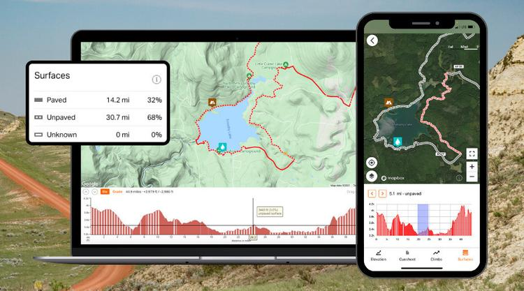 Ride with GPS Introduces Road Surface Types: Know Before You Go!