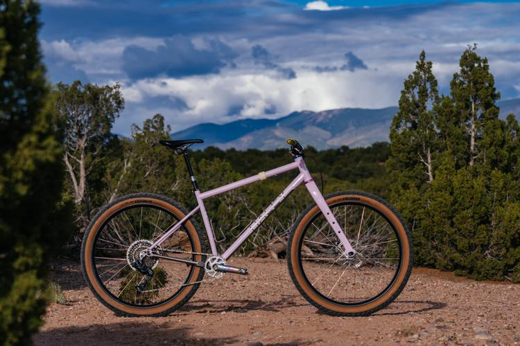 Simon's Lavender Titanium Haley Cycles 29+ Rigid MTB